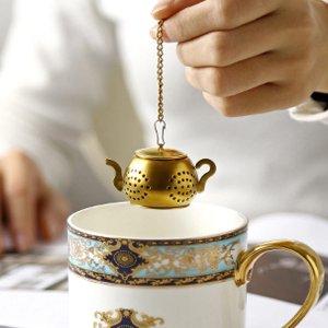 Чайный фильтр в форме чайника 1 компл. SHEIN. Цвет: золотистый