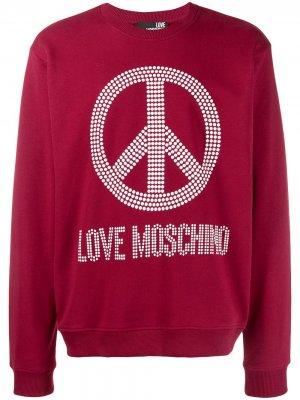 Толстовка Peace & Love Moschino. Цвет: красный