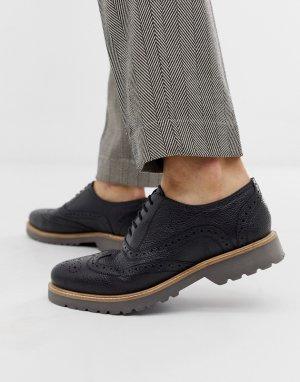 Черные кожаные броги -Черный Ben Sherman