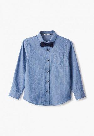 Рубашка DeFacto. Цвет: синий
