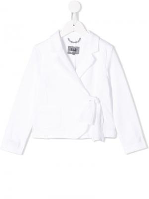 Пиджак с запахом Il Gufo. Цвет: белый