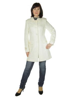 Пальто AURORA. Цвет: белый