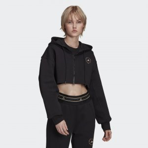 Укороченная толстовка by Stella McCartney SC adidas. Цвет: черный