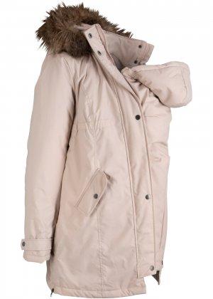 Куртка для беременных bonprix. Цвет: серый