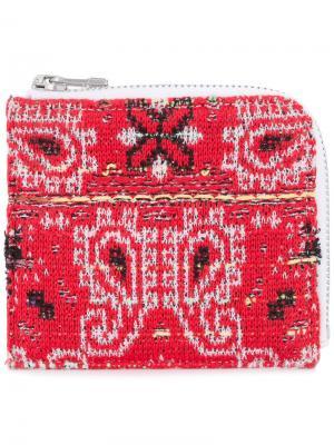 Трикотажный твидовый кошелек Bandana Coohem. Цвет: красный