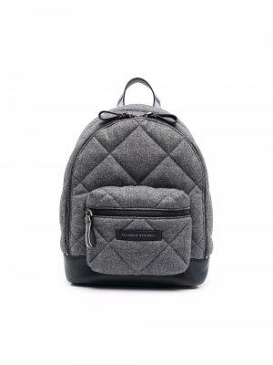 Стеганый рюкзак Brunello Cucinelli Kids. Цвет: серый