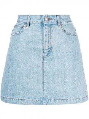 Джинсовая юбка A.P.C.. Цвет: синий