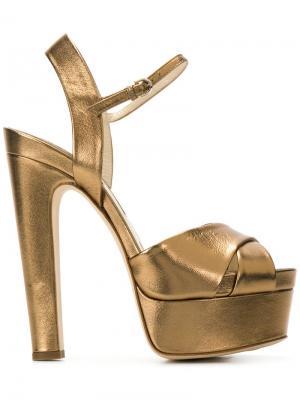 Туфли на платформе Brian Atwood. Цвет: металлический