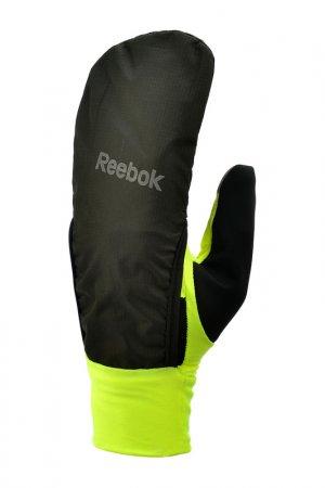 Всепогодные перчатки для бега Reebok. Цвет: черный