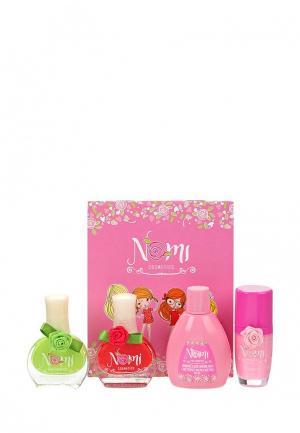 Набор косметики Nomi Лак для ногтей №14 и 18, Жидкость снятия лака, Блеск губ. Цвет: разноцветный