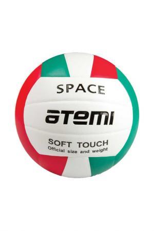 Мяч волейбольный SPACE, Atemi. Цвет: красно-зеленый