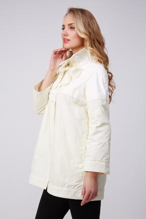Куртка для миниатюрных девушек из натуральной кожи AFG. Цвет: белый