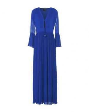 Длинное платье ATOS LOMBARDINI. Цвет: синий