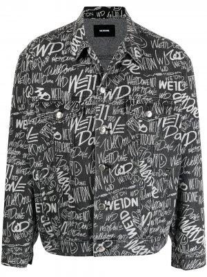 Джинсовая куртка с логотипом We11done. Цвет: черный