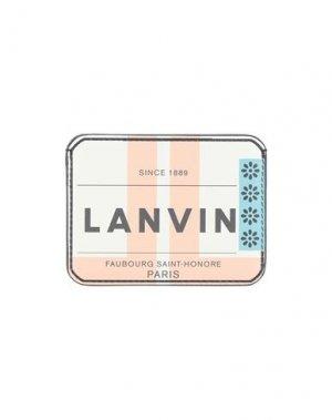 Бумажник LANVIN. Цвет: слоновая кость