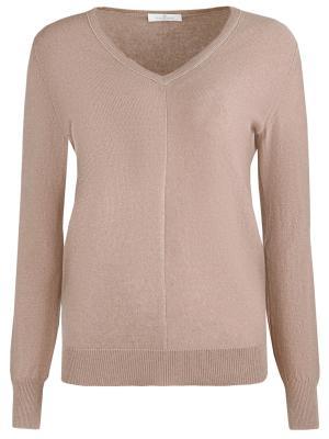 Шерстяной пуловер Panicale. Цвет: бежевый
