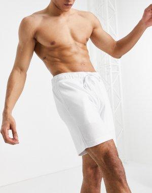 Белые шорты для дома с маленьким логотипом -Белый Hollister