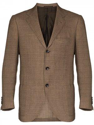 Фактурный однобортный пиджак Kiton. Цвет: нейтральные цвета