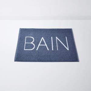 Коврик для ванной с надписью BAIN, Vasca LA REDOUTE INTERIEURS. Цвет: синий/ белый
