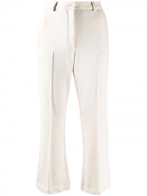 Укороченные расклешенные брюки 8pm. Цвет: нейтральные цвета