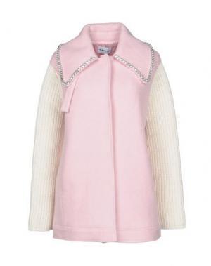 Пальто AU JOUR LE. Цвет: розовый