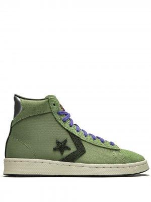 Кеды Pro Leather Mid Black History Month Converse. Цвет: зеленый