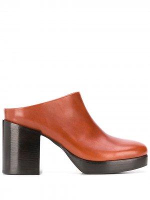 Мюли на массивном каблуке A.F.Vandevorst. Цвет: коричневый