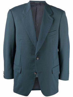 Однобортный пиджак 1990-х годов Yves Saint Laurent Pre-Owned. Цвет: зеленый