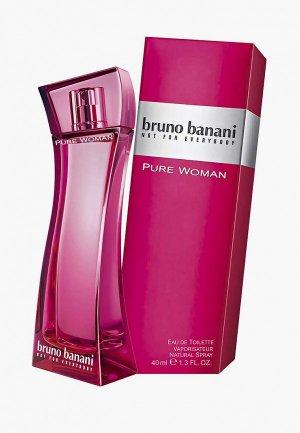 Туалетная вода Bruno Banani Pure Woman, 40 мл. Цвет: прозрачный