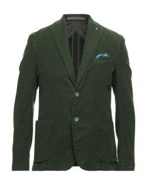 Пиджак JERRY KEY. Цвет: зеленый-милитари