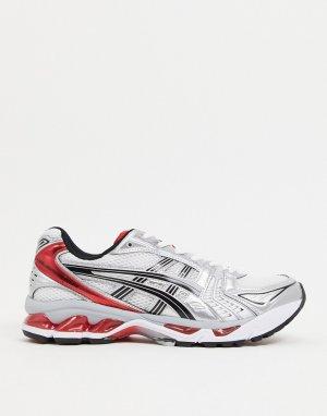Серебристые и красные кроссовки Gel Kayano 14-Серый Asics