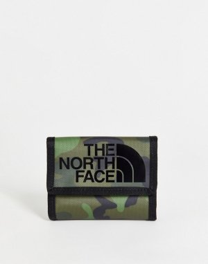 Бумажник с камуфляжным принтом Base Camp-Зеленый цвет The North Face