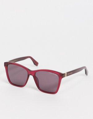 Солнцезащитные очки с прямоугольными стеклами 446/S-Красный Marc Jacobs