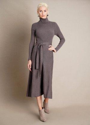 Вязаное платье O`Stin. Цвет: пыльно-коричневый