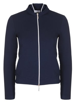 Куртка-бомбер хлопковая Gran Sasso. Цвет: синий