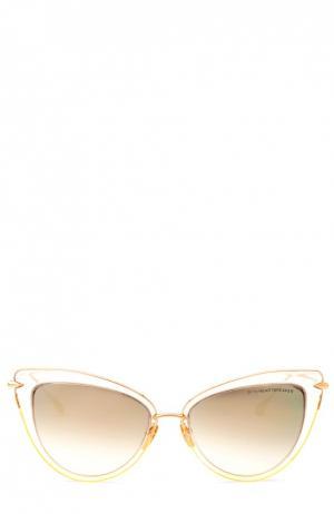 Солнцезащитные очки Dita. Цвет: золотой