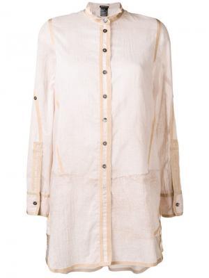 Блузка-туника на пуговицах Ann Demeulemeester. Цвет: нейтральные цвета