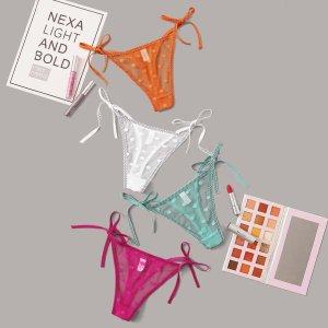 Многоцветный Чистый Небольшие точки Сексуальное женское белье SHEIN. Цвет: многоцветный