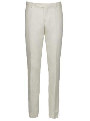 Классические брюки Larusmiani. Цвет: белый
