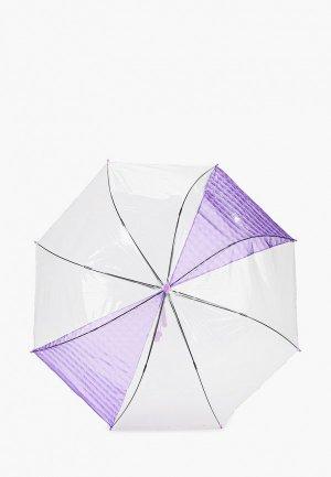 Зонт-трость Zemsa. Цвет: фиолетовый