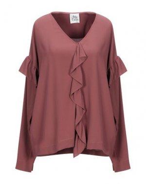 Блузка ATTIC AND BARN. Цвет: коричневый