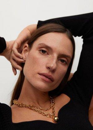 Ожерелье из цепочки с подвеской - Ingrid Mango. Цвет: золото