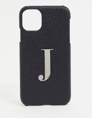 Чехол для iphone 11 / XR с буквой J -Черный Elie Beaumont