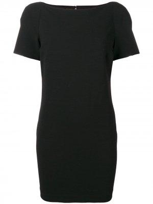 Платье мини с коротким рукавами Versace Pre-Owned. Цвет: черный