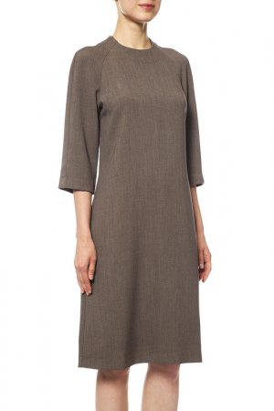 Платье Cyrille Gassiline. Цвет: серо-бежевый