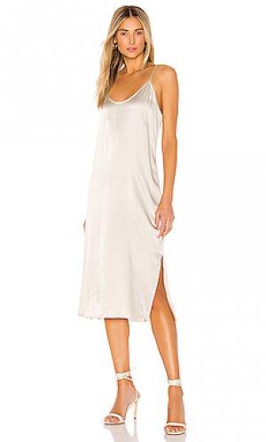 Платье ATM Anthony Thomas Melillo. Цвет: металлический серебряный