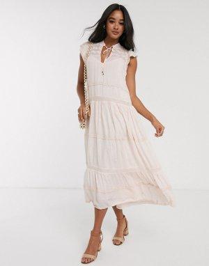 Платье миди -Белый Free People