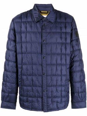 Стеганая куртка-рубашка Woolrich. Цвет: синий