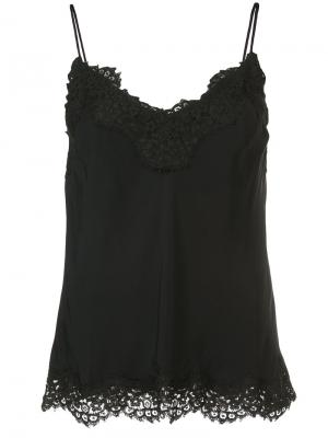 Lace trim camisole top Zimmermann. Цвет: чёрный