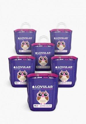 Подгузники-трусики Lovular XL 12-17 кг, 108шт ( 6*18шт/уп). Цвет: фиолетовый